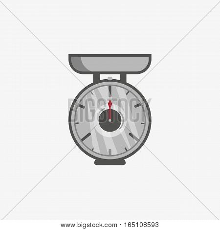 A simple flat icon of a scales for measure food
