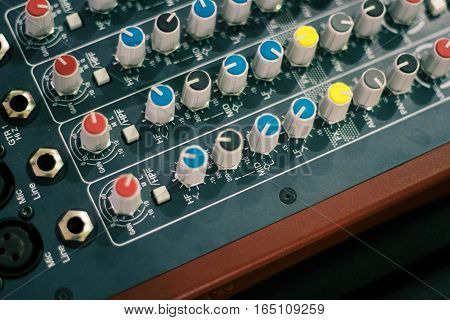 background electronic mixing console instrument media technology