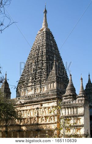 Mahabodhi temple at the archaeological site of Bagan on Myanmar