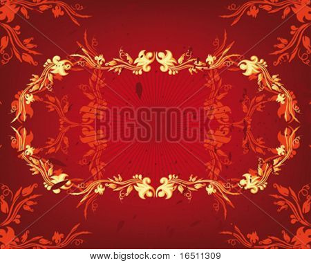 Vector Flower vintage wallpaper (Raster version 18833038)