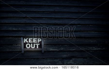 Keep out sign on a building in Prince Edward Island
