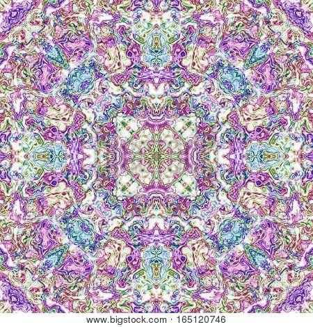Ornate colorful bright oriental universe background design