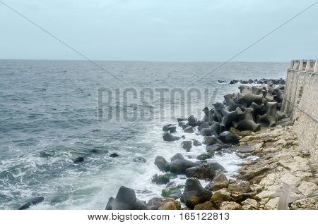 The Black Sea Shore, Blue Sky And Water, Stabilopods