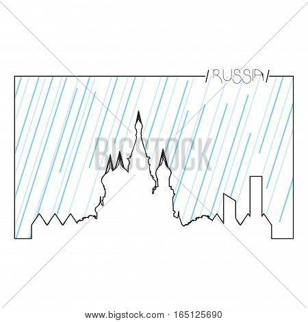 Isolated abstract skyline of Moscow, Vector illustration
