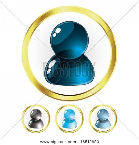 Vector  Set of Glass People Blue (Raster version 25482736)