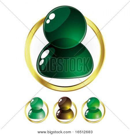 Vector  Set of Glass People Green (Raster version  25482739)