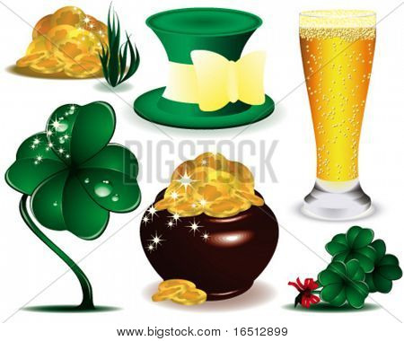Vector  Set symbol  of St. Patrick's Day
