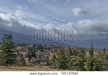 Village in Rila mountain valley area, Bulgaria