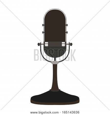Isolated retro microphone on a white background, Vector illustration