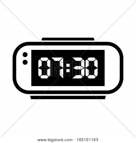 Digital alarm clock. Vector Illustration on white background