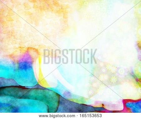 A digitally created abstract watercolour paint background.