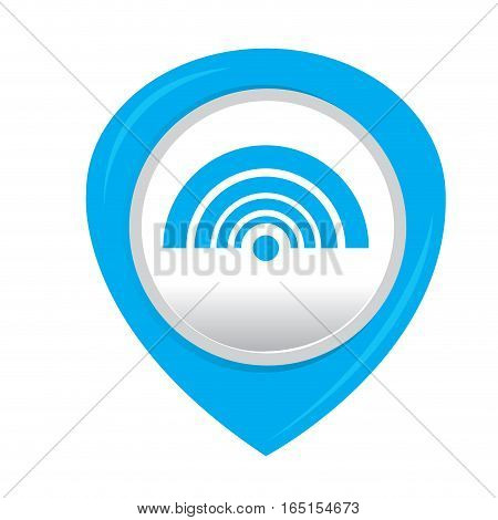Isolated web pin with a wifi icon, Vector illustration