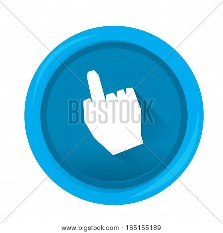 Isolated web pin with a hand icon , Vector illustration