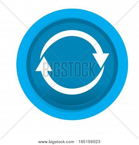 Isolated web pin with an arrow icon , Vector illustration