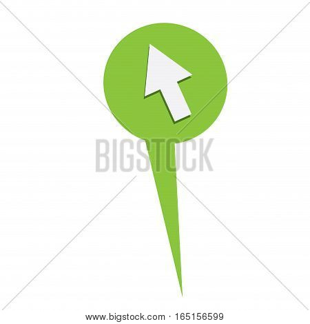 Isolated web pin with a mouse icon, Vector illustration