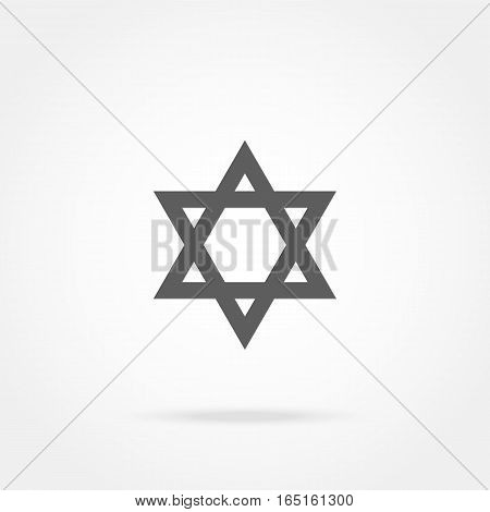 vector illustration of a state symbol Star of David, Icon