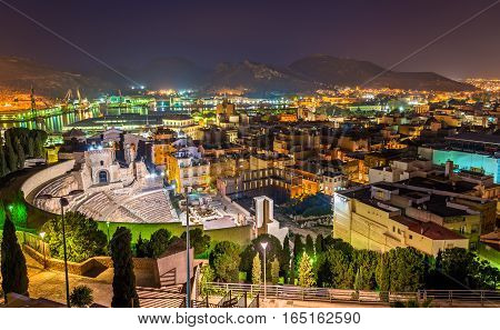 View of the Roman Theatre in Cartagena - Spain