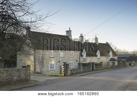 Country homes set in the village of Duddington Northamptonshire England UK.