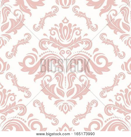 Elegant classic pattern. Seamless abstract background with repeating elements. Light pink pattern