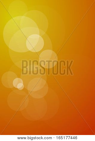 Vector abstract shapes of golden lights background