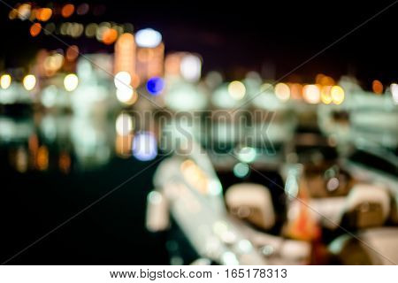 blurred background lights of the night city
