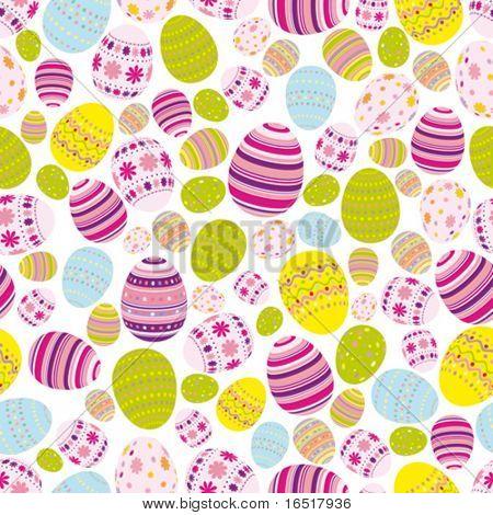 Vector Seamless easter eggs background