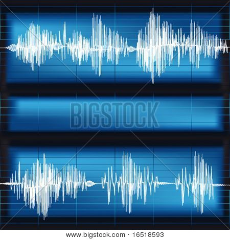 Waveforms background. Vector.