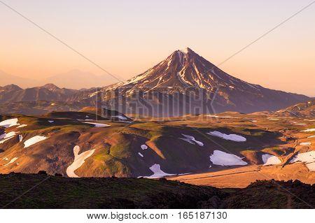 Stratovolcano Vilyuchik Also Known As Vilyuchinsk, Kamchatka Peninsula, Russia