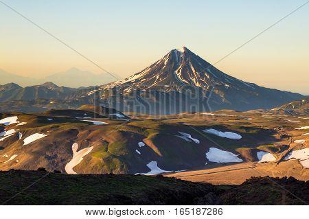 Volcano Vilyuchik Also Known As Vilyuchinsk, Kamchatka Peninsula, Russia