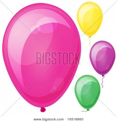 Vector Realistic colorful balloons. Eps10.