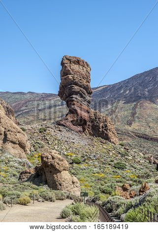 Spain Canary Islands Tenerife. The enchanting landscapes of the Teide volcano.