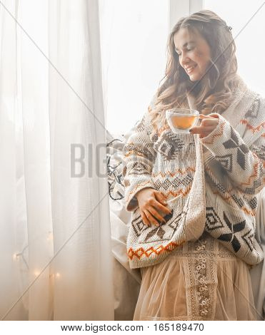 Cozy Cup Of Tea The Girl In The Hands