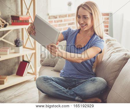 Beautiful Girl At Home
