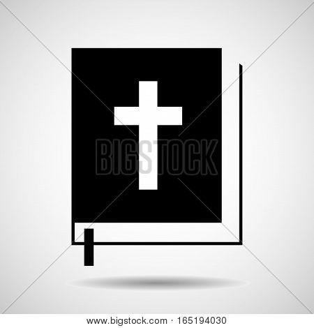 Bible icon isolated on white background. Religion symbol