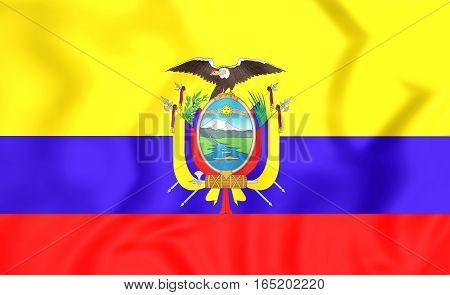 3D Flag Of The Ecuador. 3D Illustration.