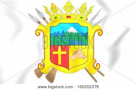 Ibague Coat Of Arms, Colombia. 3D Illustration.