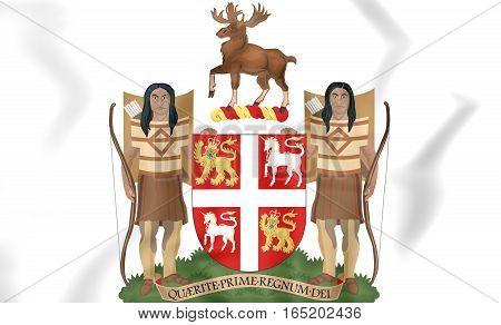 Newfoundland And Labrador Coat Of Arms, Canada. 3D Illustration.