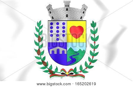 Tulua Coat Of Arms, Colombia. 3D Illustration.