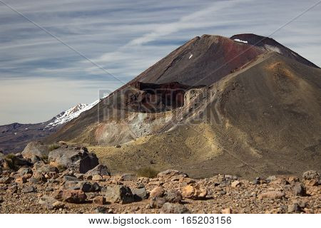 Red Crater And Mount Ngauruhoe