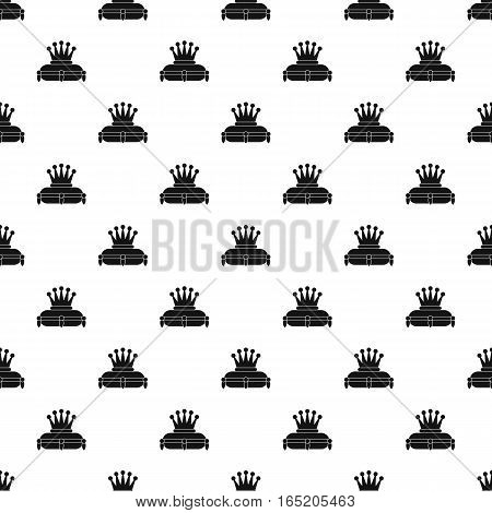 Crown on a pillow pattern. Simple illustration of crown on a pillow vector pattern for web