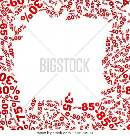 Background for discount sale
