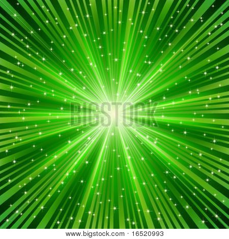Eps green ray of a star