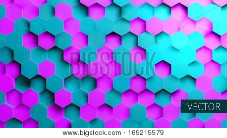 Hexagonal vector background. Toxic backdrop. Technology impression. Minimal pattern. For web