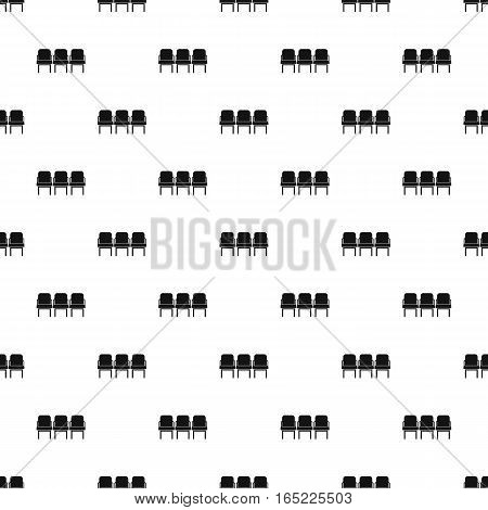 Airport seats pattern. Simple illustration of airport seats vector pattern for web