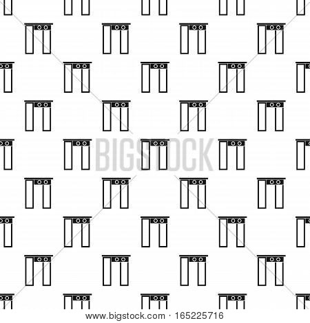 Security gates with metal detector and scanner pattern. Simple illustration of security gates with metal detector and scanner vector pattern for web
