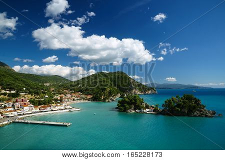 View of the Ionian sea and Parga Greece