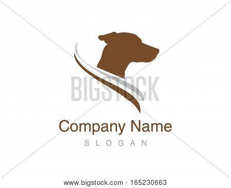 Jack russel dog logo on white background