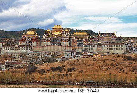 Zhongzanlin TempleTibetan Monastery in Shangrila Yunnan China