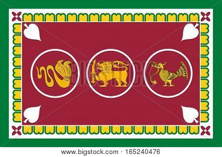 Flag of Western Province is one of the nine provinces of Sri Lanka.