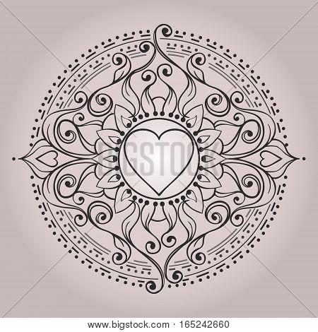 Sketch Of Tattoo Henna Hearts